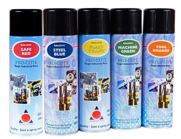 Pro Cote Spray Paint Colours Chemodex Lubricants