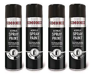 Spray Paints Gloss Satin Matt Black Chemodex